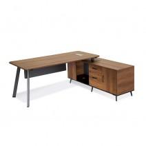 오크마운트2 책상 좌우선택형. 사이드수납장 포함 (LND-502R/L  사무실용, 컴퓨터책상)