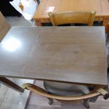 2인 식탁 (의자/유리 포함) 850x650